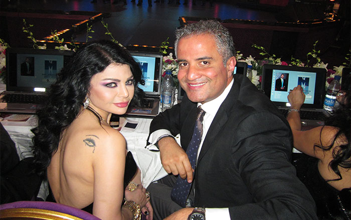 Haifa Wehbe and dr zalaket in Mr lebanon